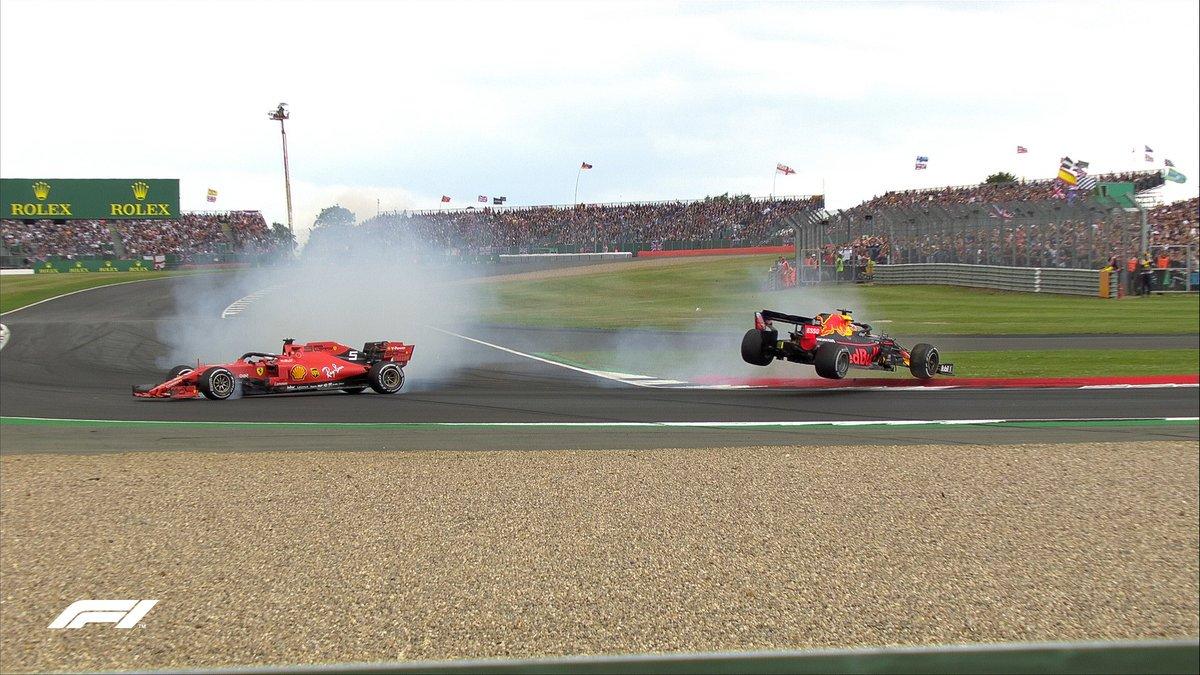 Vidéo : Le contact entre Sebastian Vettel et Max Verstappen 1