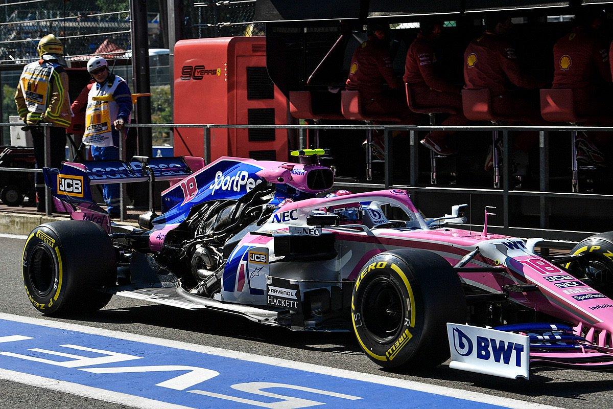 capot moteur ouvert F1