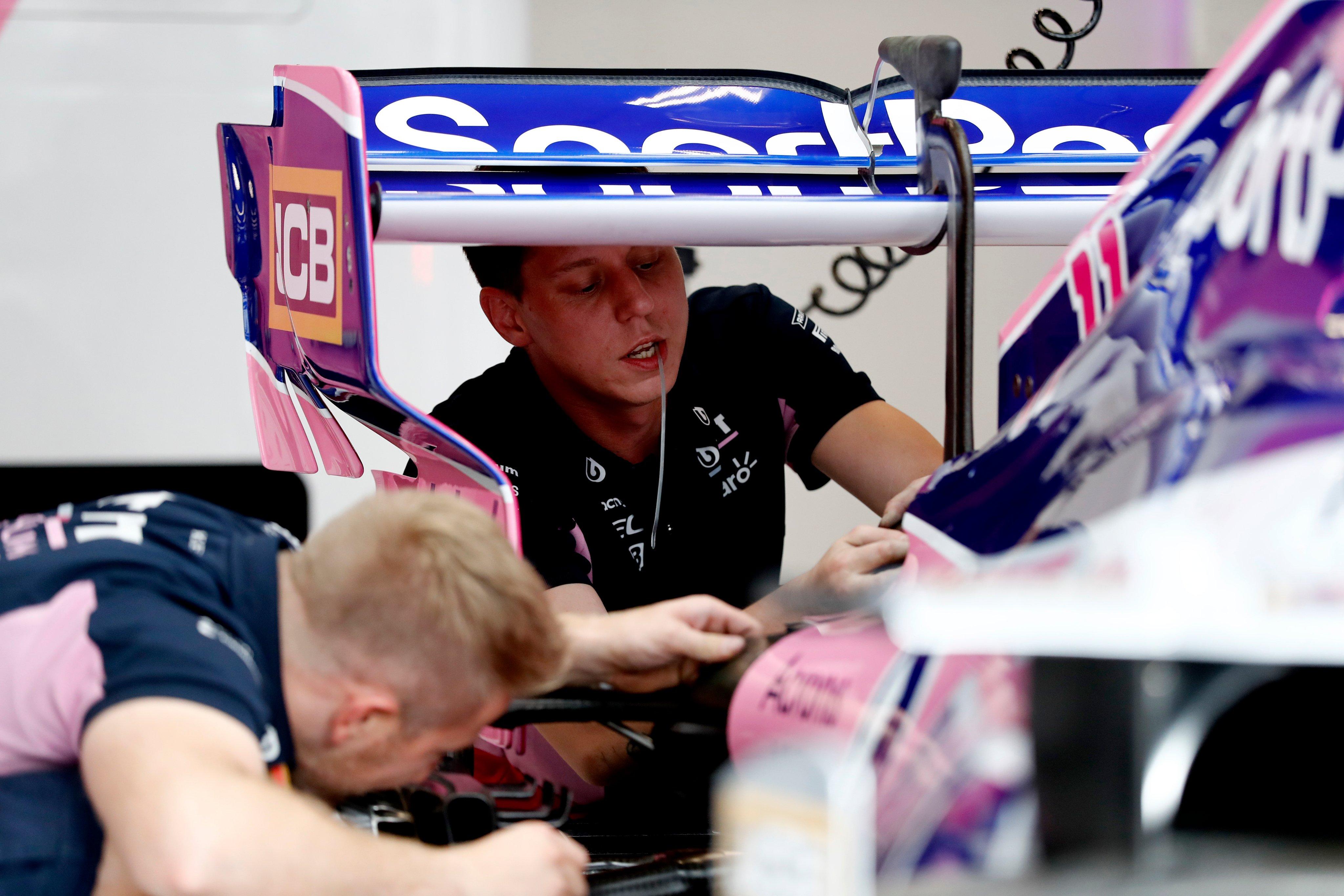 mise à jour racing point singapour
