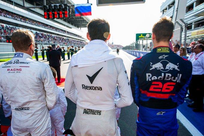 pilotes de F1 grille de départ