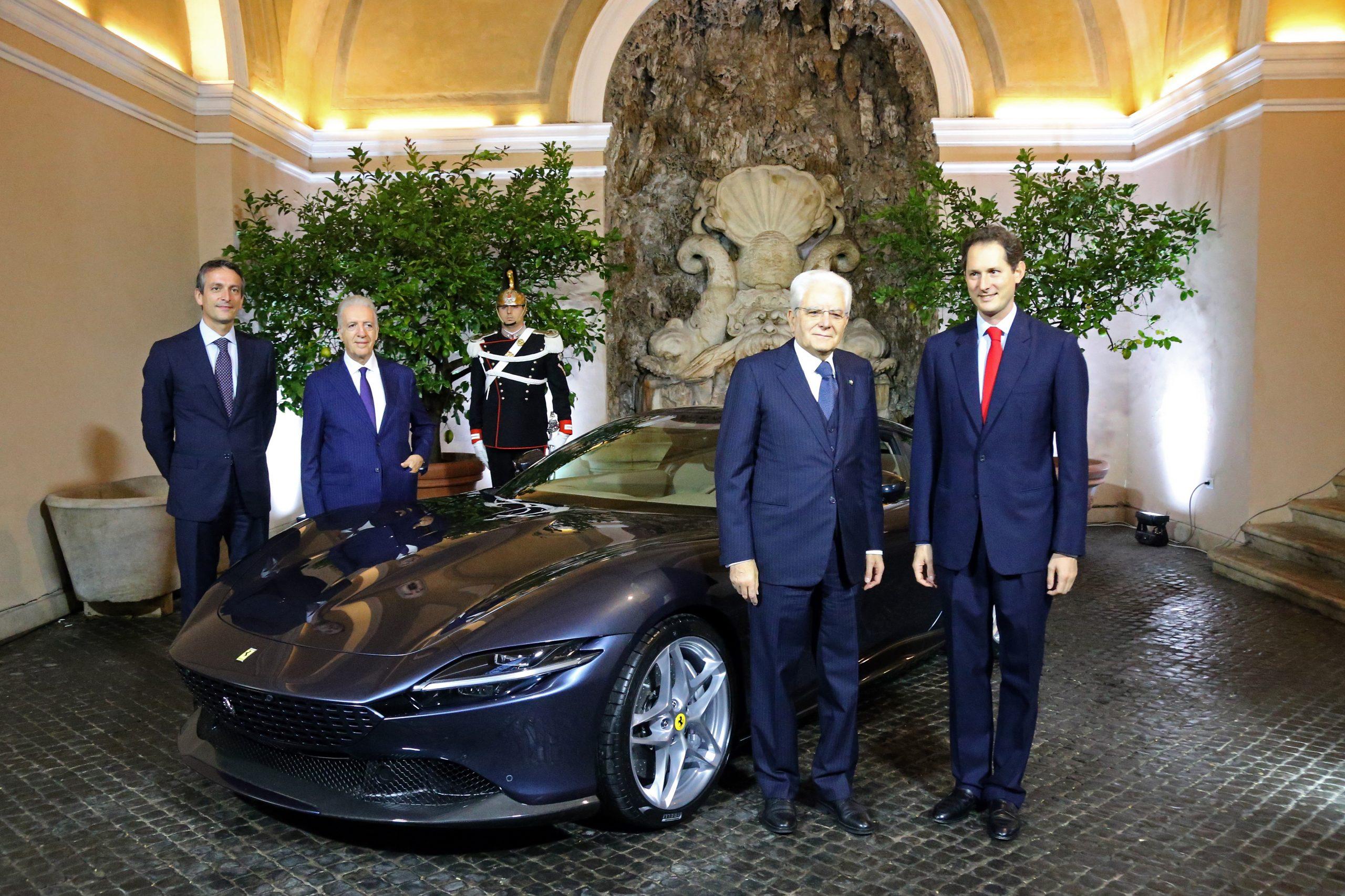 président de Ferrari John Elkann