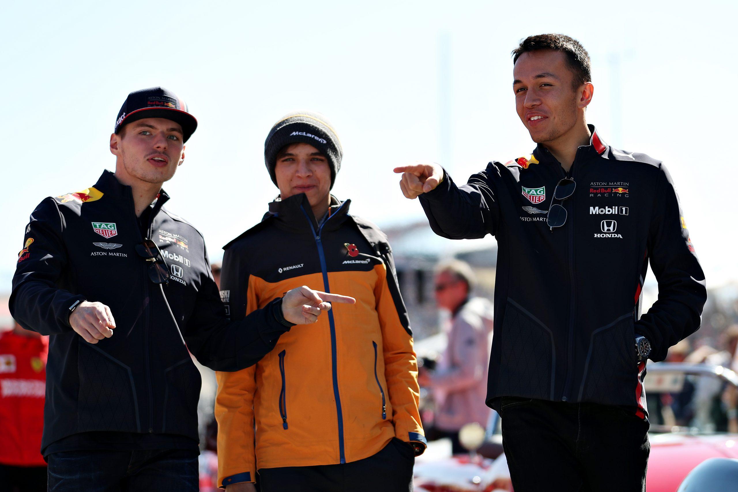 Pilotes Red bull Max Verstappen et Alex Albon