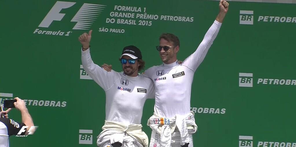 podium alonso button 2015 brésil