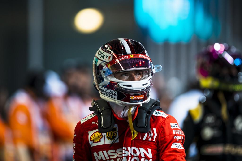 Le pilote Ferrari Charles Leclerc au Grand Prix d'Abou Dhabi