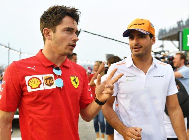 carlos sainz Ferrari leclerc