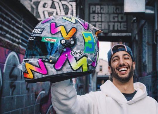 casque Daniel Ricciardo