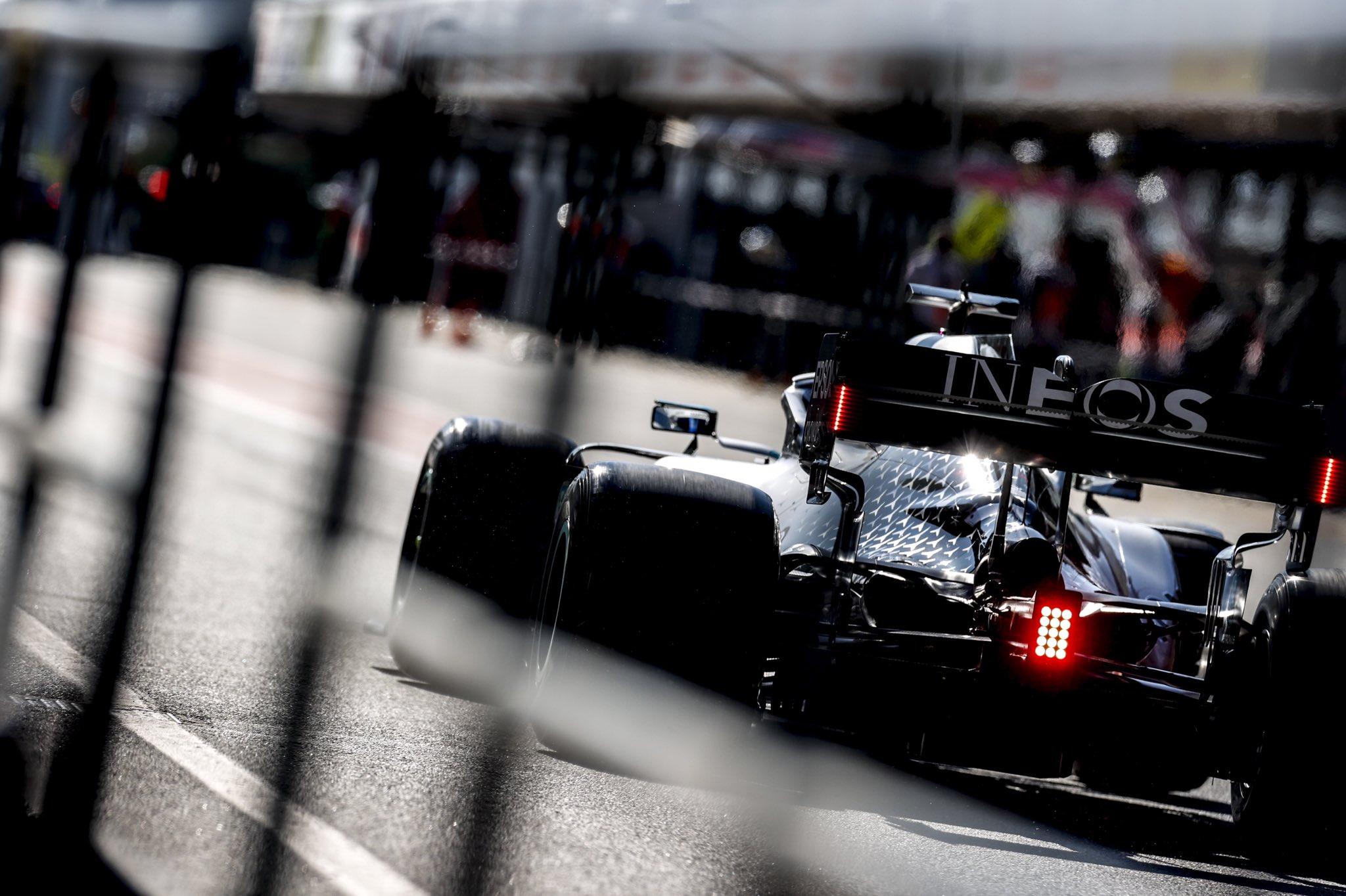 DAS Mercedes W11 Barcelone