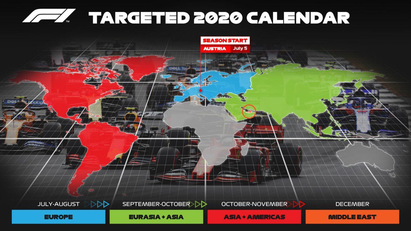Calendrier F1 2021 Horaires F1   Voici le calendrier idéal de la saison 2020 selon la F1