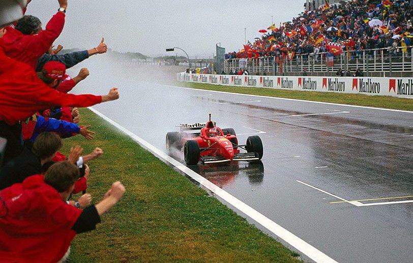 gp espagne 1996 Schumacher Ferrari