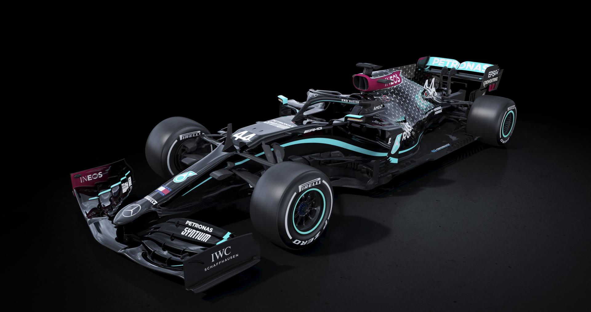 Formule 1: la voiture Mercedes entièrement noire pour la saison 2020