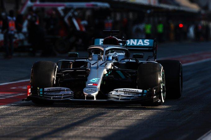 F1 - Hamilton et Bottas en piste à Silverstone avant le début de la saison 2020