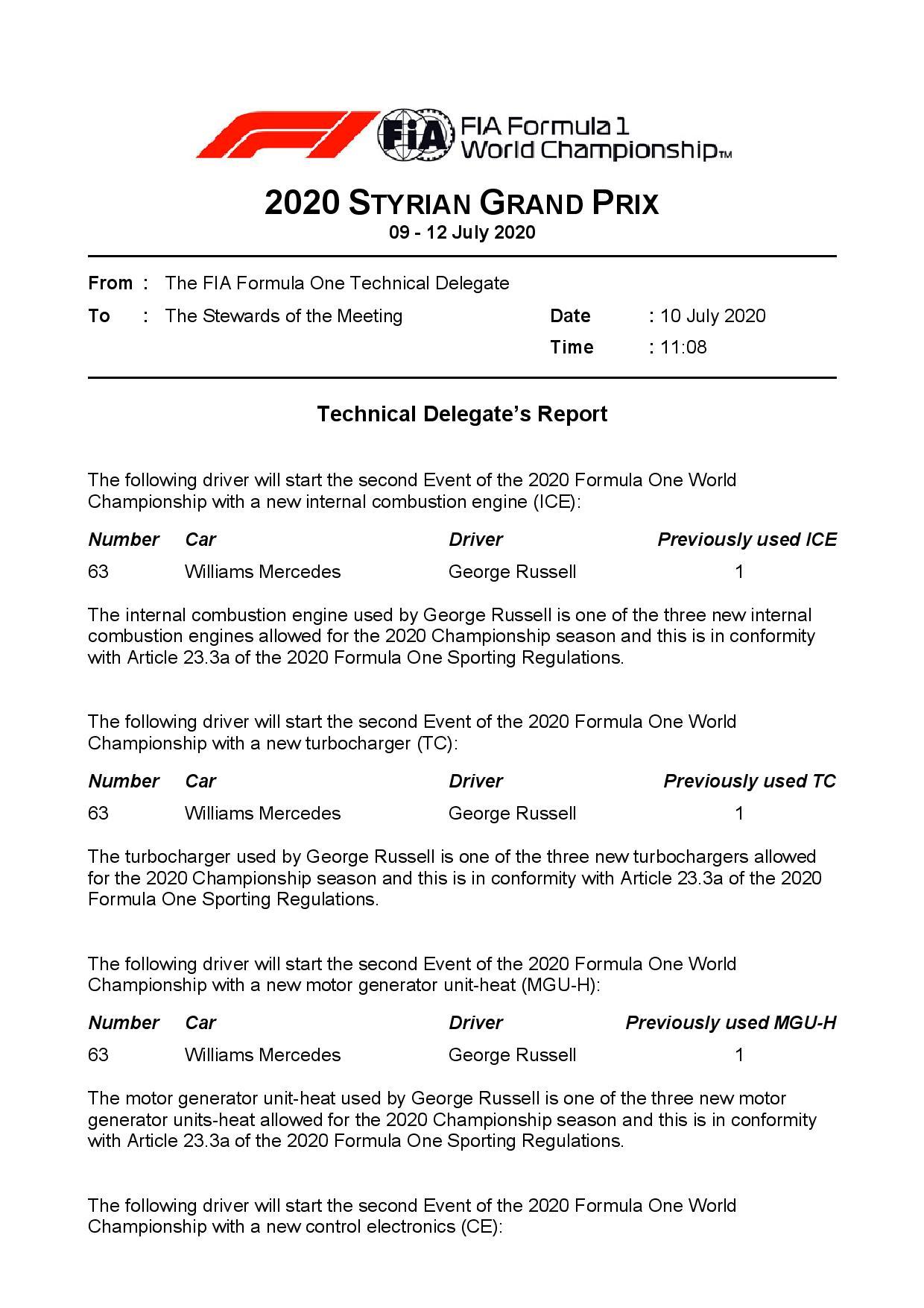 George Russell reçoit plusieurs nouveaux éléments moteur sur sa Williams 2