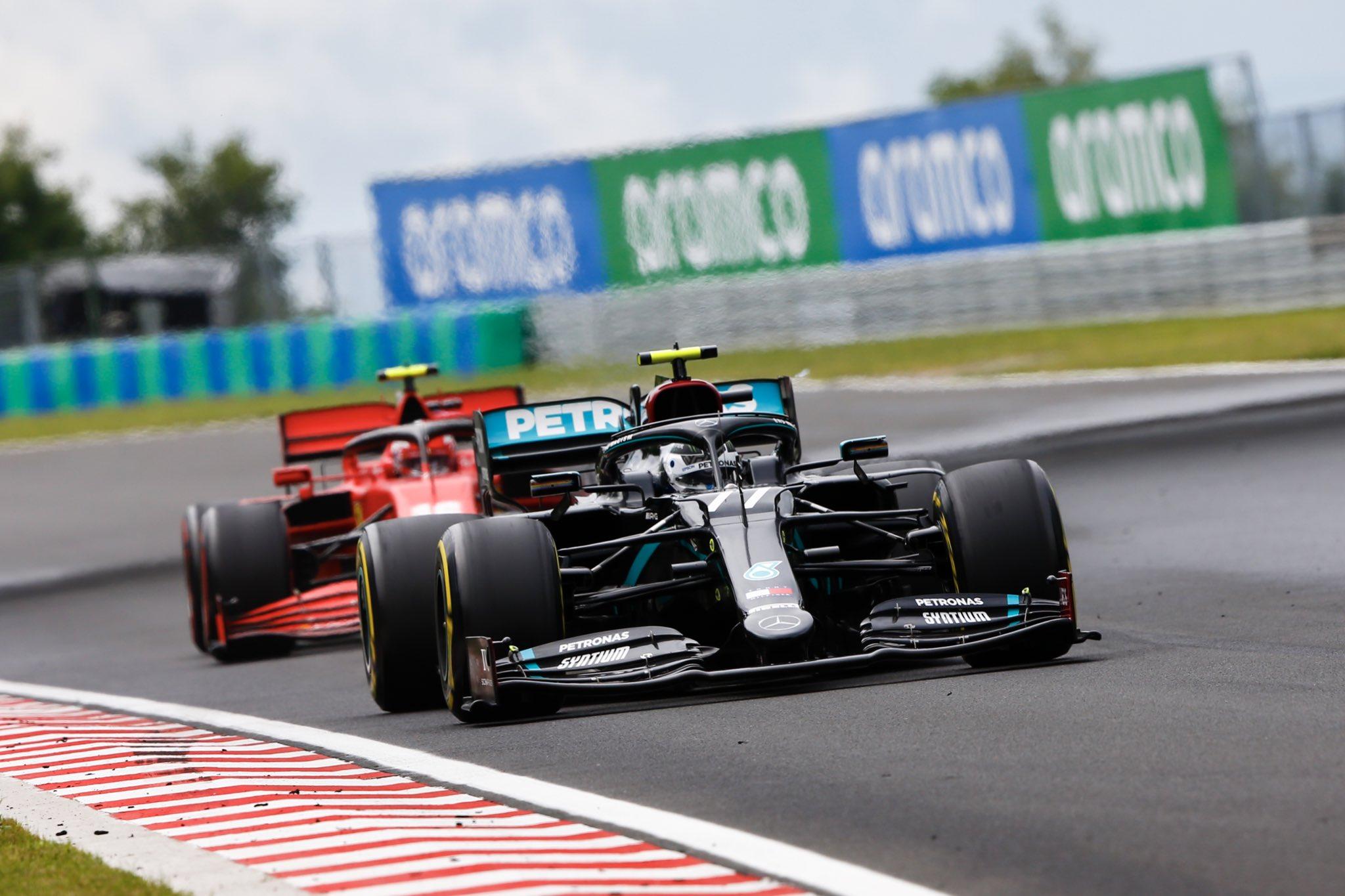 F1 - Valtteri Bottas surpris par un voyant sur son volant au départ du GP de Hongrie