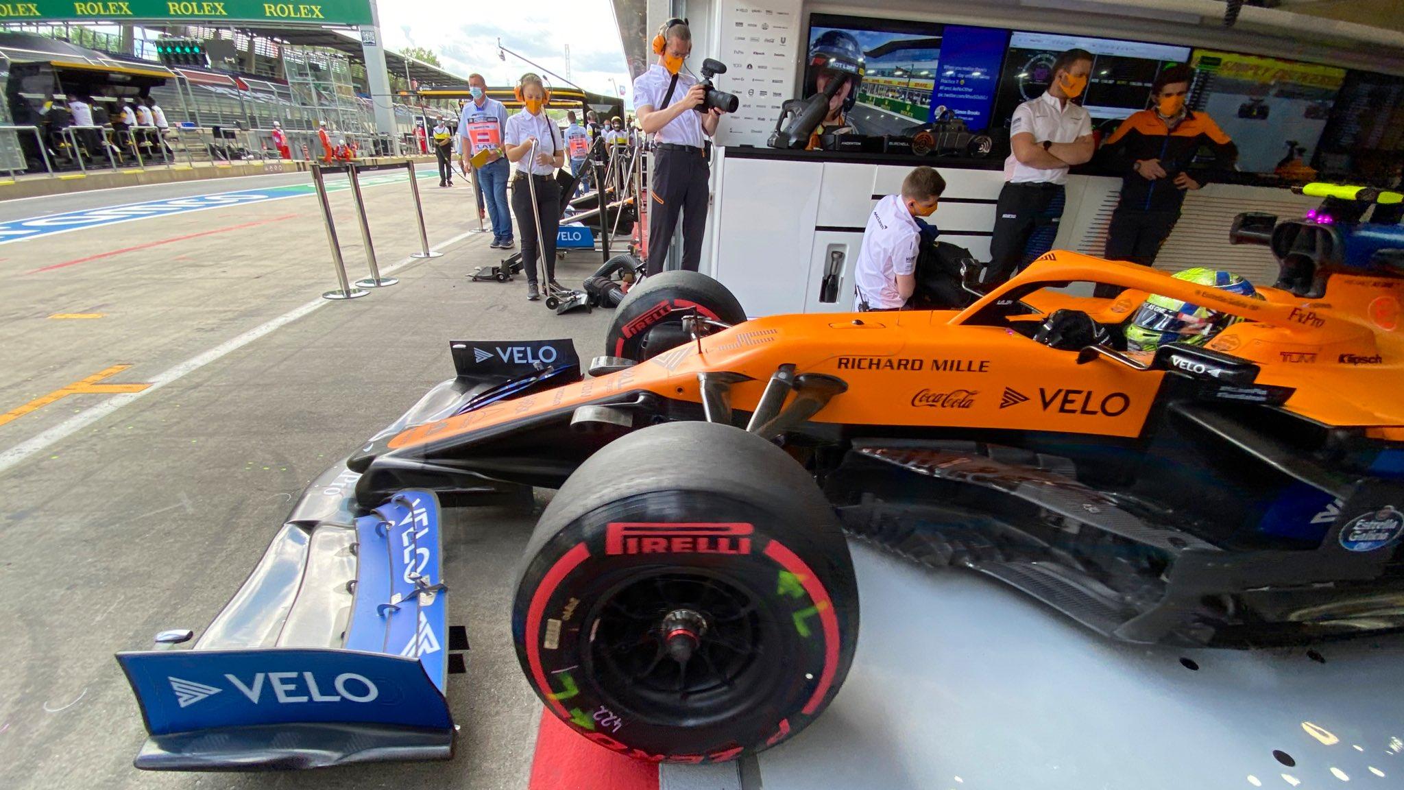 Lando Norris s'élancera depuis la deuxième ligne ce dimanche au volant de sa McLaren 1