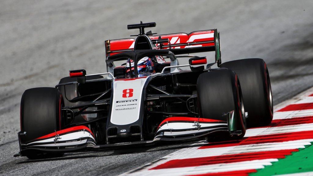 "Quinzième sur la grille, Romain Grosjean se trouve dans ""le wagon Alfa Romeo/Williams"" 1"