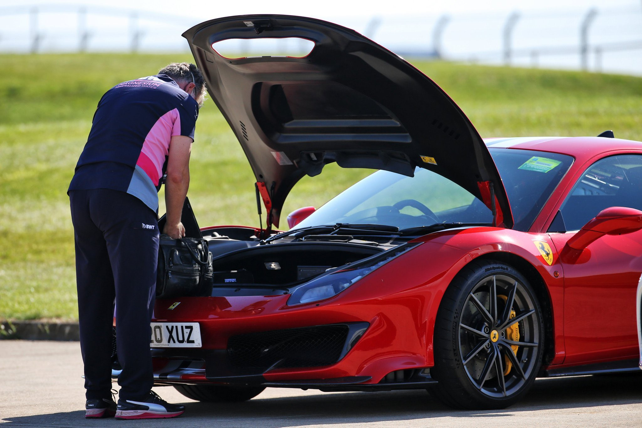 Vettel a quitté Silverstone dans la voiture du directeur de Racing Point ce dimanche 1