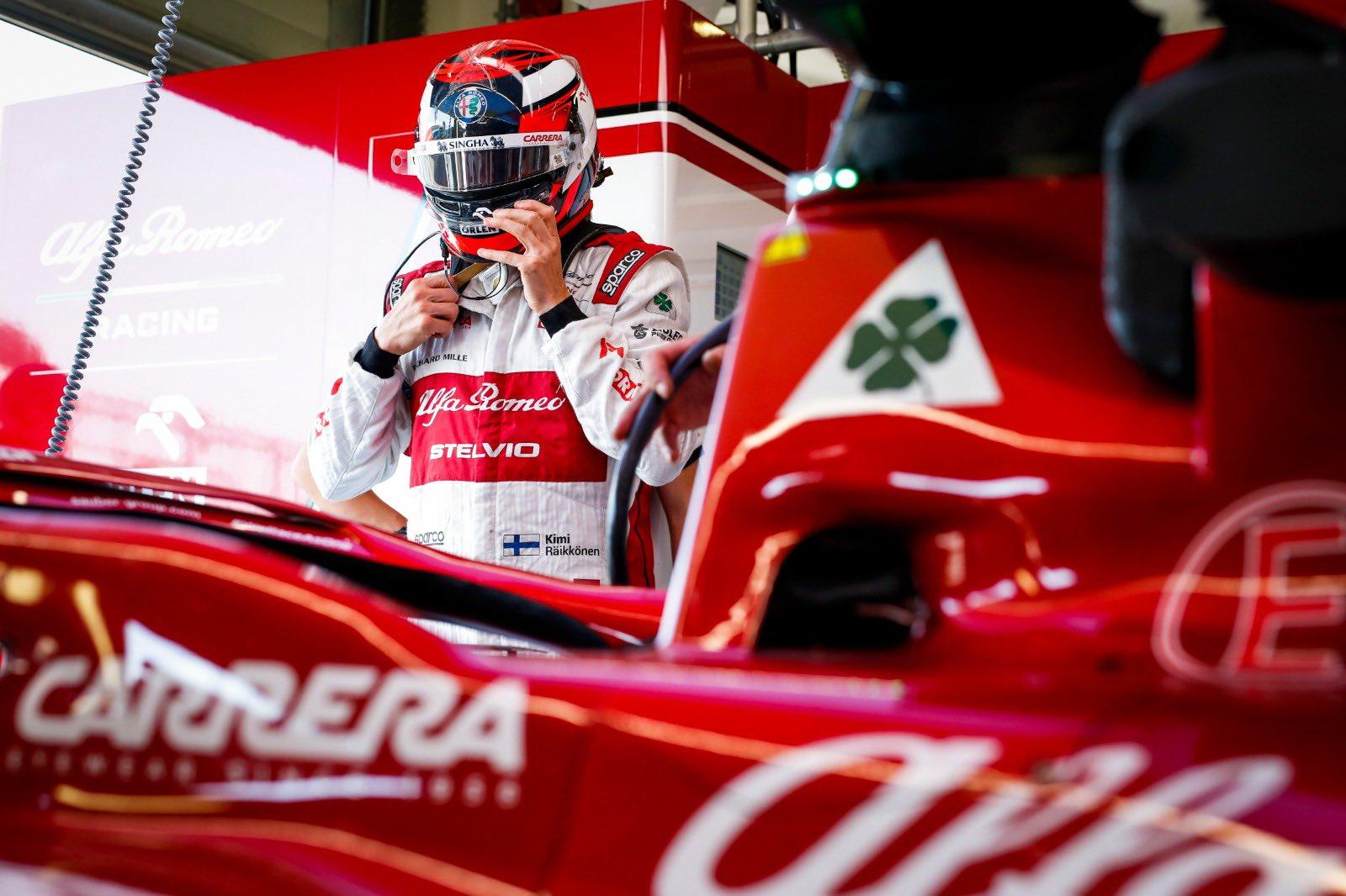 Seizième sur la grille, Raikkonen pense pouvoir terminer dans le top 10 en course à Silverstone 1