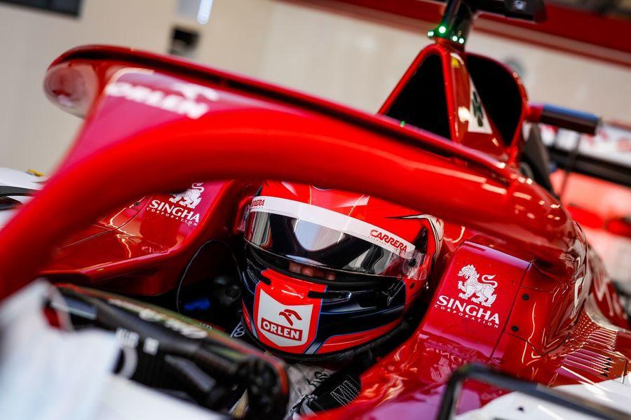 Robert Kubica en piste ce vendredi à Silverstone avec Alfa Romeo 1