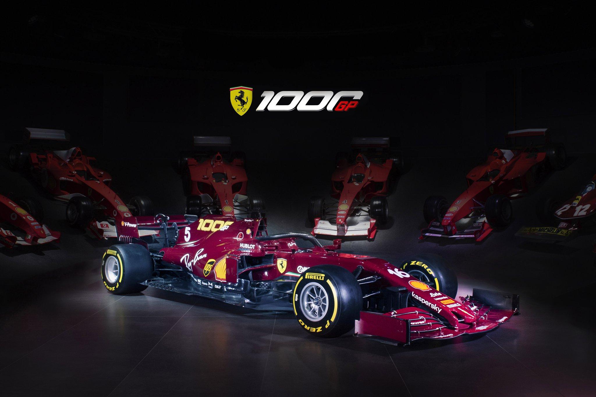 F1 - Ferrari présente sa livrée spéciale et le programme de son 1000e GP