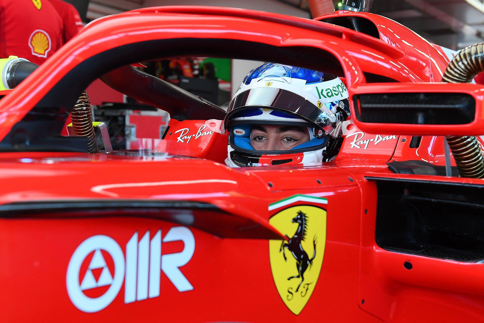 F1 - Giuliano Alesi au volant d'une Ferrari...30 ans après son père