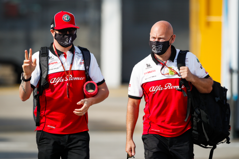 F1 - Kimi Raikkonen de retour au volant de son Alfa Romeo à Sotchi