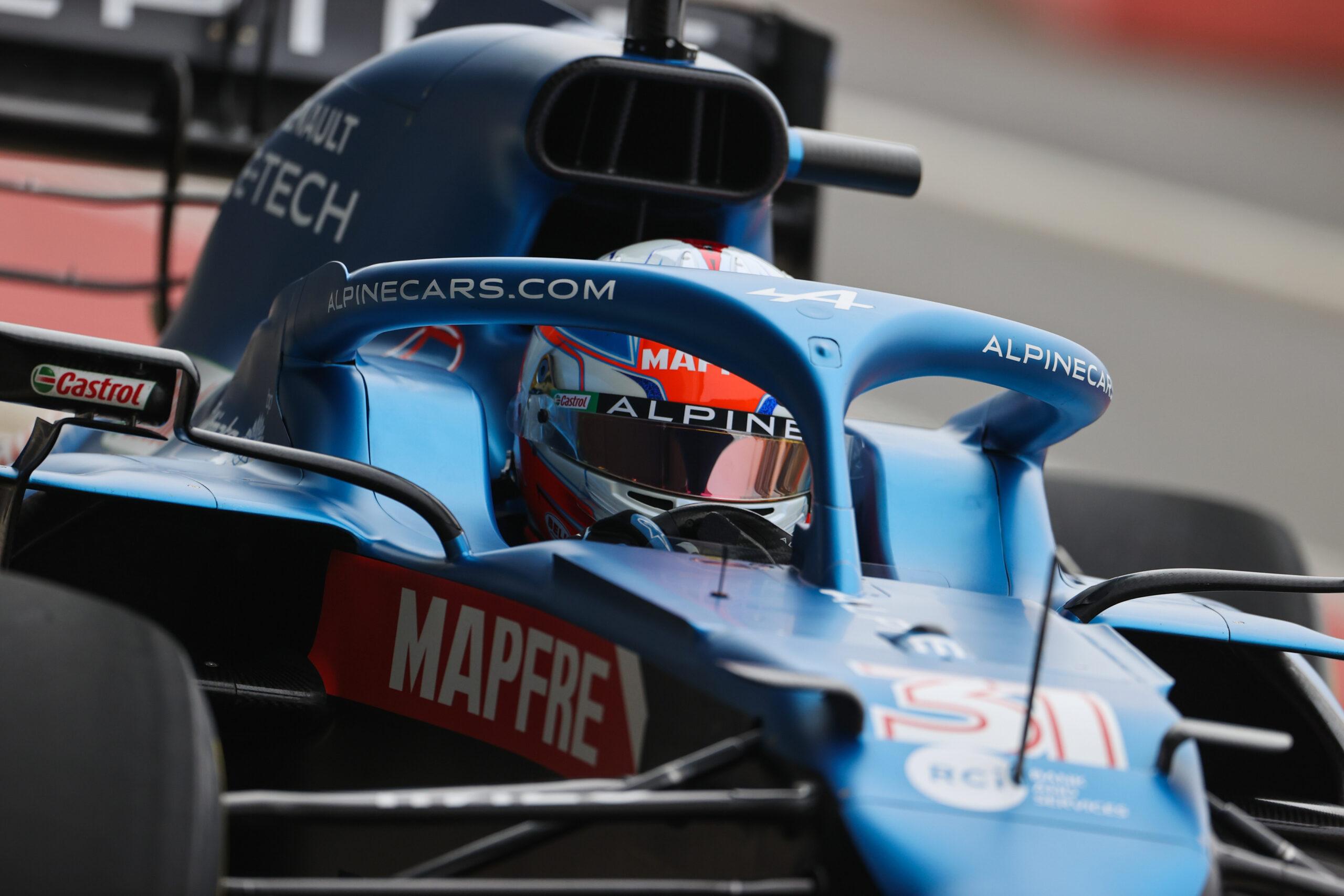 F1 - Vidéo : l'Alpine A521 en piste avec Esteban Ocon