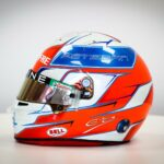 "F1 - Esteban Ocon présente son casque ""bleu, blanc, rouge"""