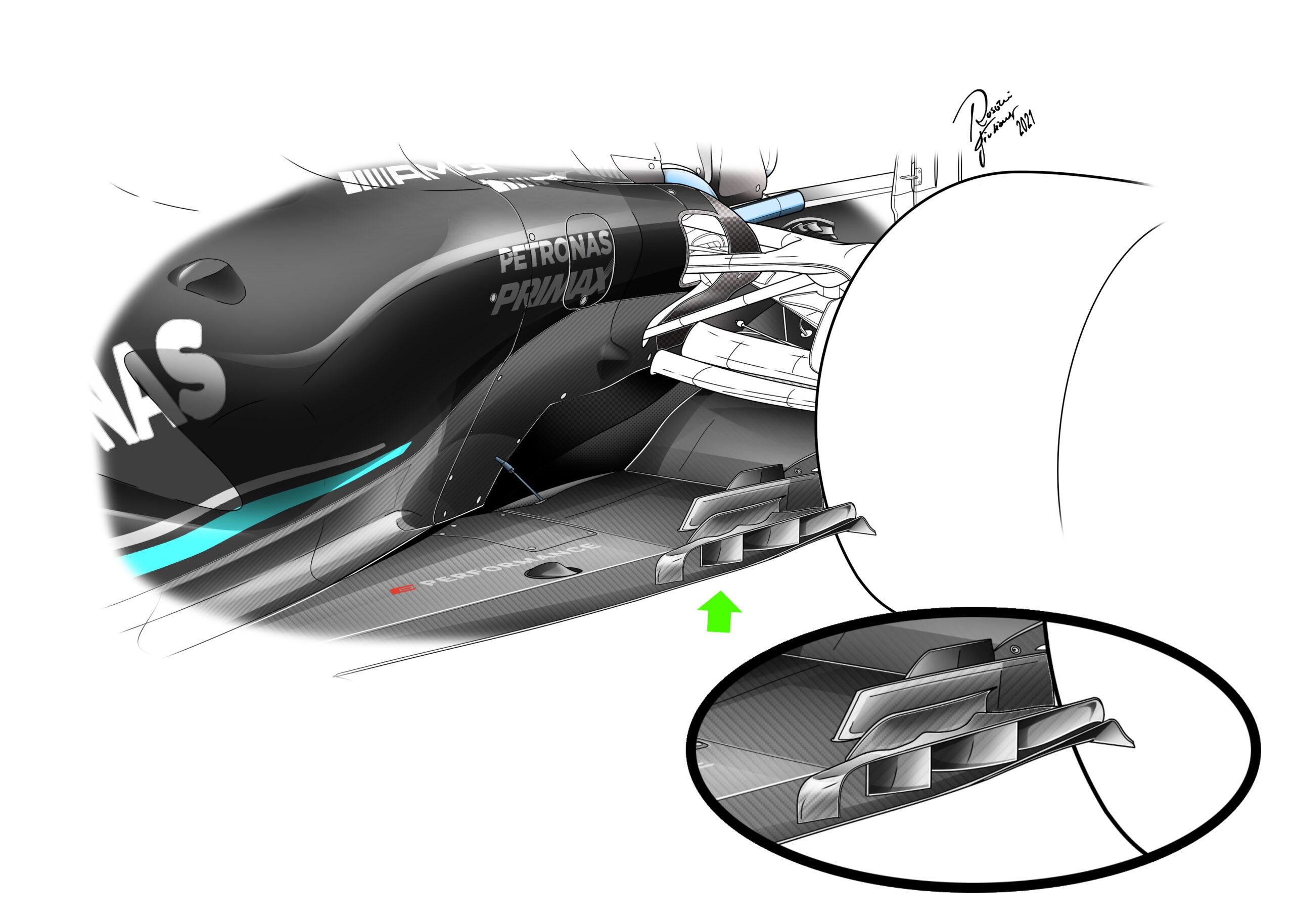 F1 - Le nouveau fond plat de Mercedes est-il responsable de l'instabilité de la W12 ?