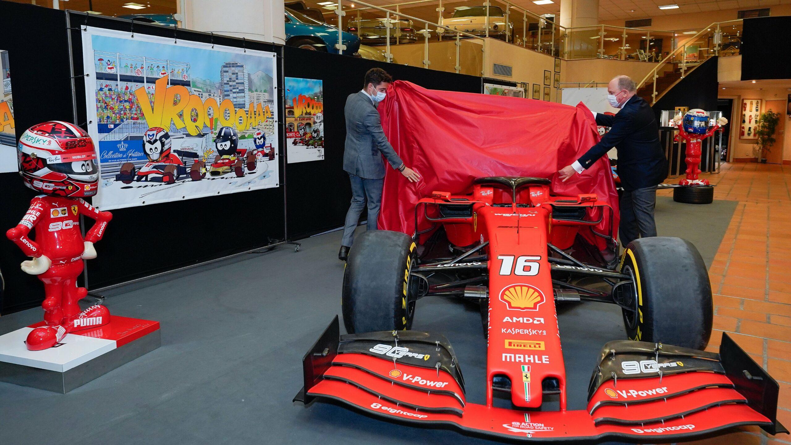 F1 - La Ferrari SF90 de Leclerc rejoint la collection du Prince à Monaco