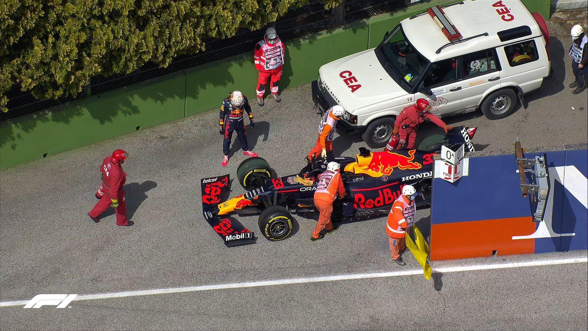F1 - Imola - EL2 : Mercedes assure, Verstappen en panne, Leclerc dans le mur