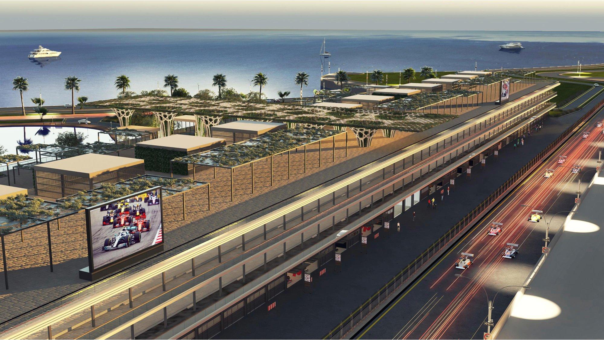 F1 - La F1 dévoile le bâtiment des stands du circuit de Jeddah