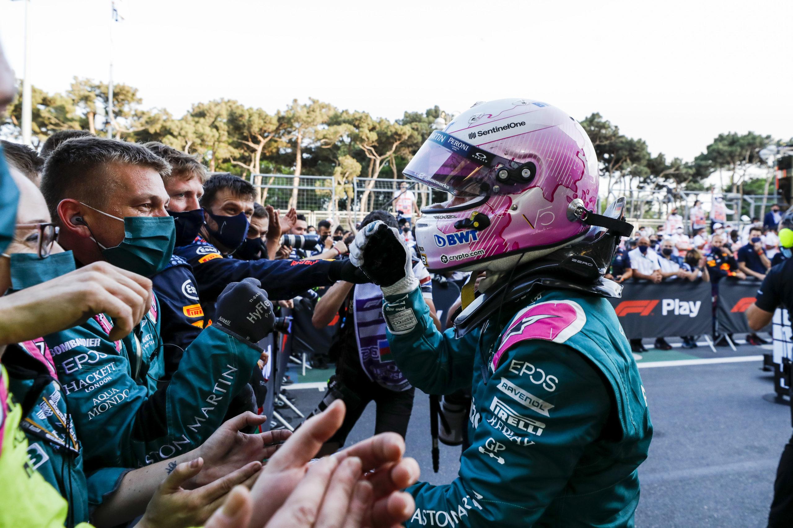 F1 - Sebastian Vettel élu pilote du jour au GP d'Azerbaïdjan 2021