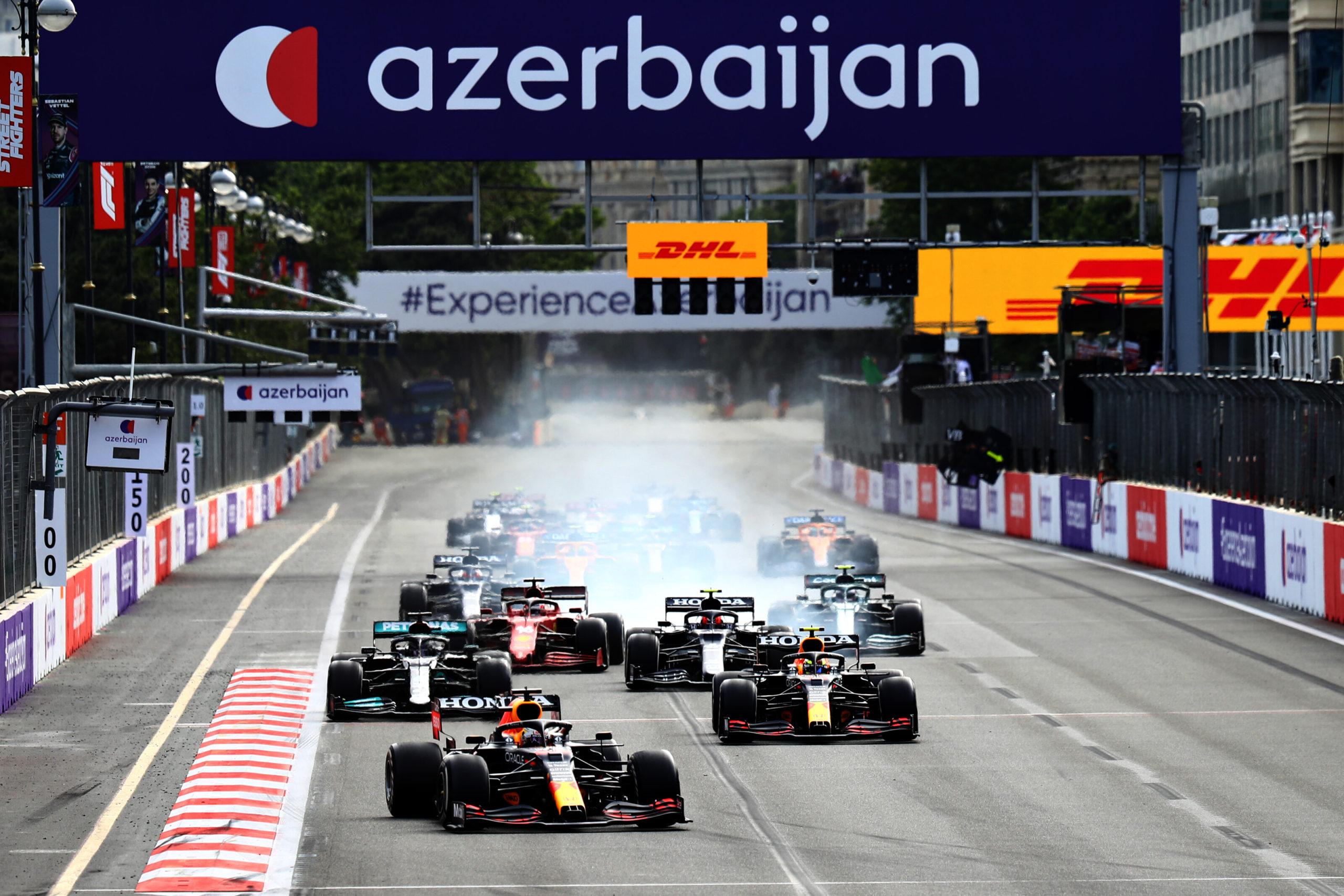 F1 - Bakou : Victoire de Perez, Vettel et Gasly sur le podium