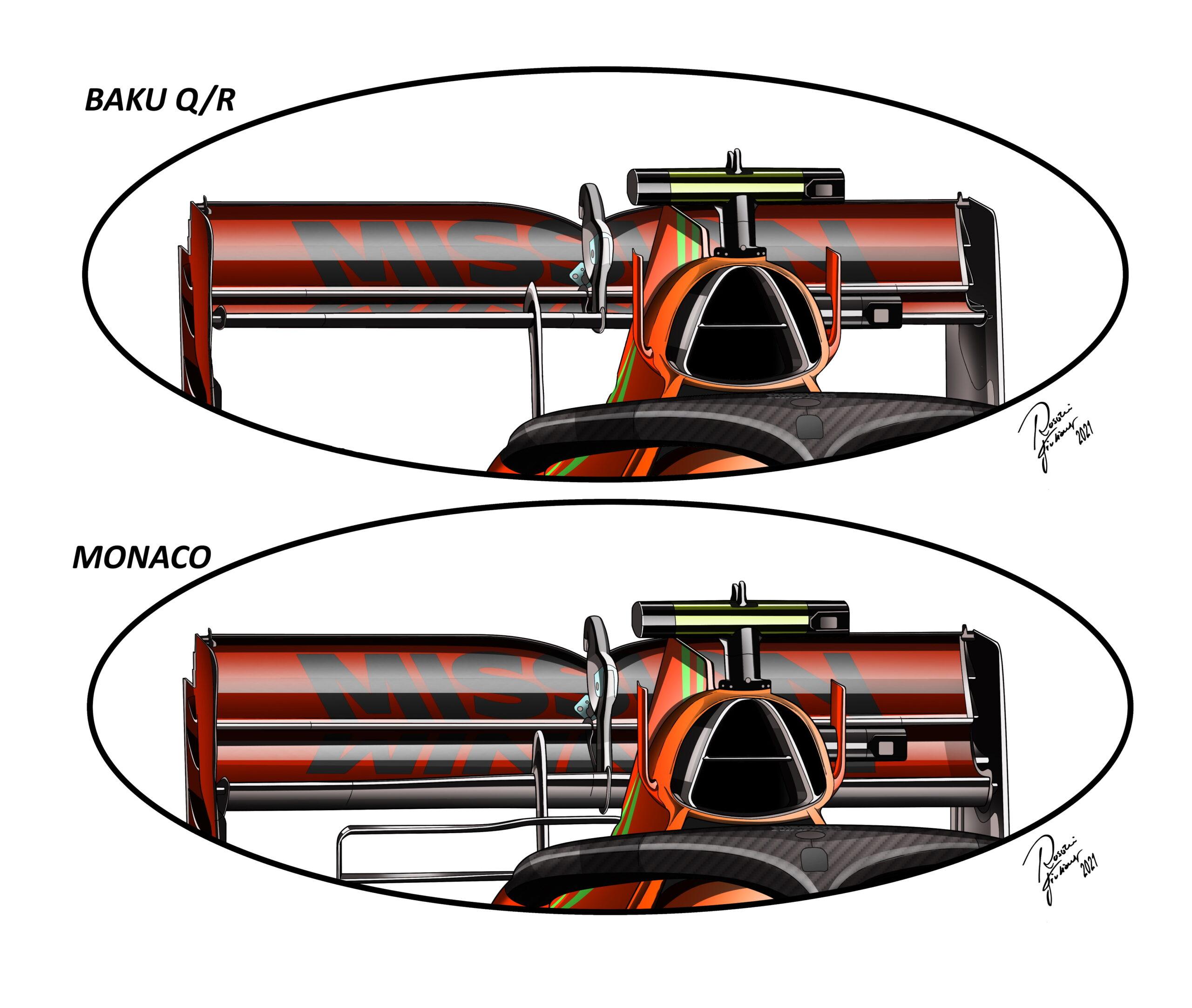F1 - Les différentes solutions utilisées par Ferrari, Mercedes et Red Bull à Bakou