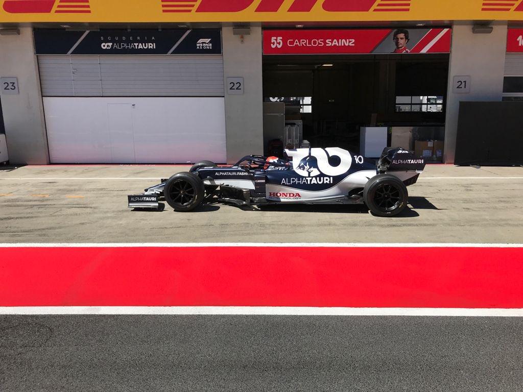 F1 - Pierre Gasly a testé les Pirelli 18 pouces ce mardi