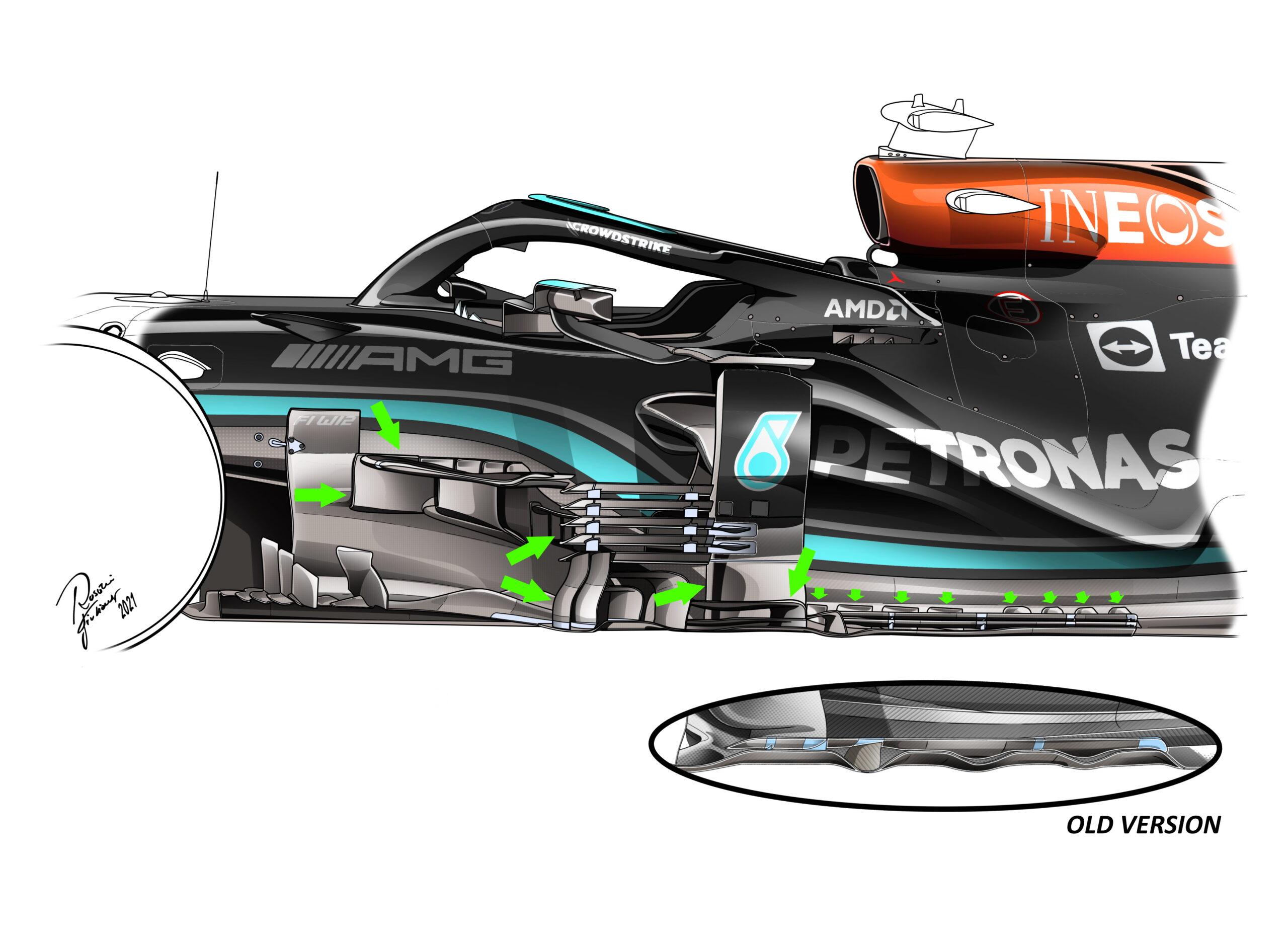 F1 - Technique : Mercedes met enfin à jour la W12, mais Red Bull ne lâche rien