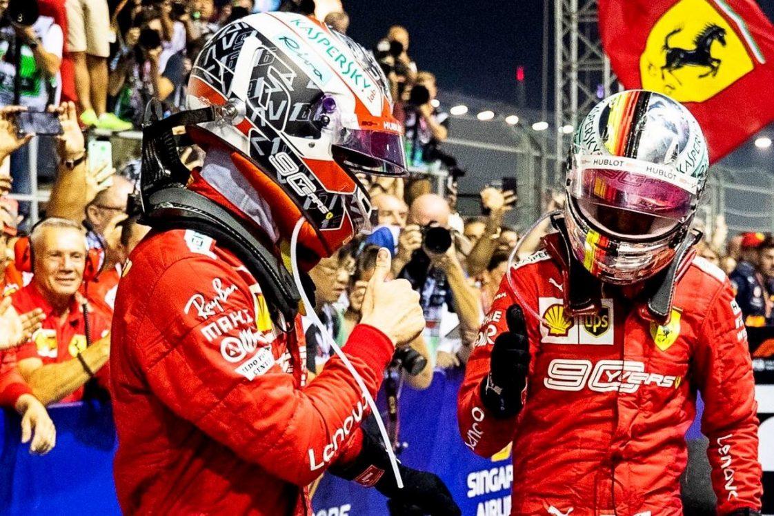 """F1 - Leclerc considérait Vettel comme """"un grand frère"""" chez Ferrari"""