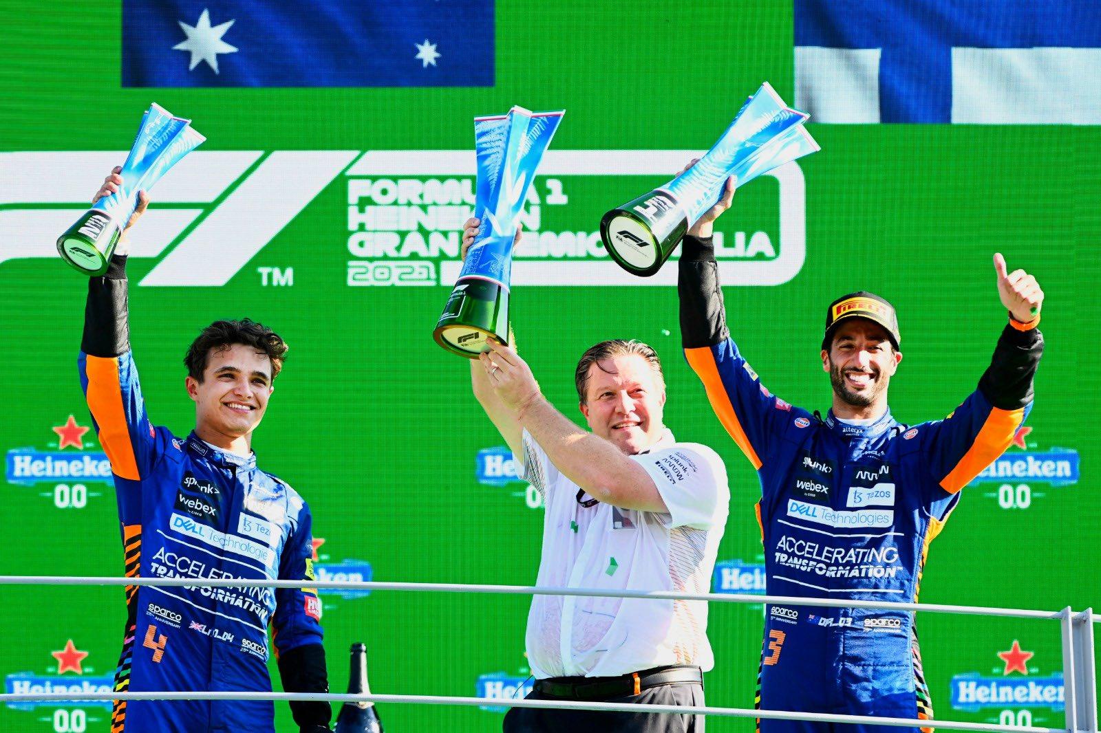 F1 - P2 à Monza, Norris est avant tout content pour McLaren