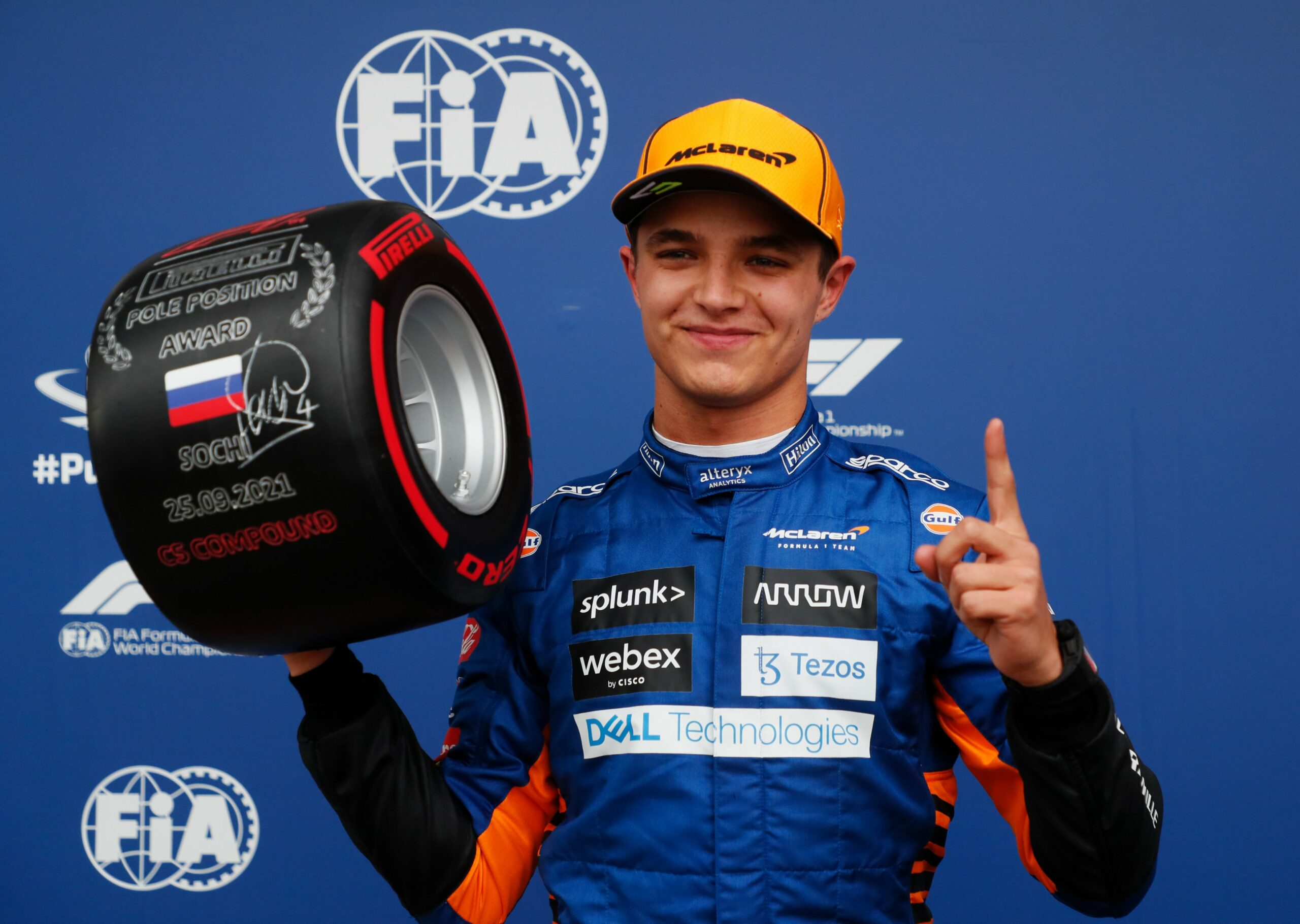 F1 - Norris en pole en Russie, devant Sainz et George Russell