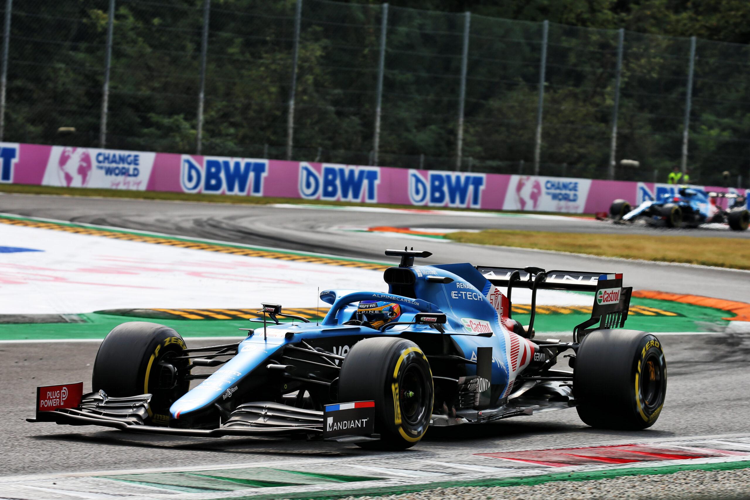F1 - Alonso satisfait de sa P8 malgré le manque de rythme d'Alpine à Monza